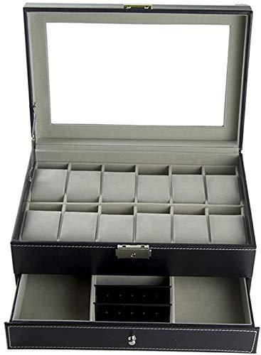 Feibrand PU Scatola Porta Orologi Custodia per 12 Orologi e Gemelli