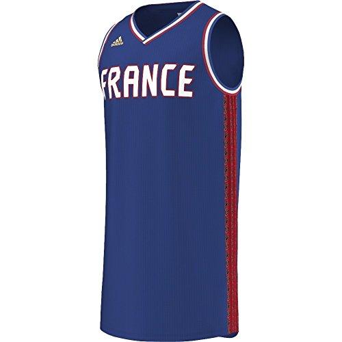 adidas–Maillot selección de Francia Baloncesto 2015–2016–Mixta, Color Azul, tamaño L