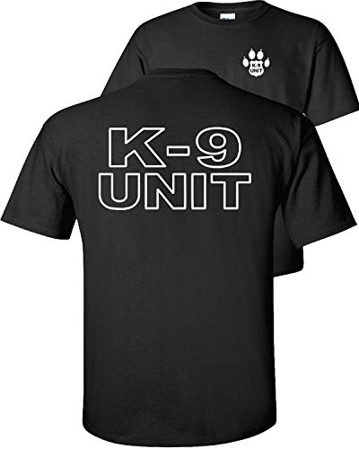 Fair Game K-9 Unit Police Officer T-Shirt K9 Handler Uniform Law Enforcement Duty Trainer V1-Black-XL