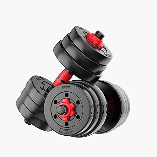 Entrenamiento Dumbbell Home Fitness Equipment Hombres Thin Principiante 20kg 30 Kg Barbell Ajustable Ejercicio Brazo Músculo Pareja Ejercicio (Peso: 30kg)-15kg