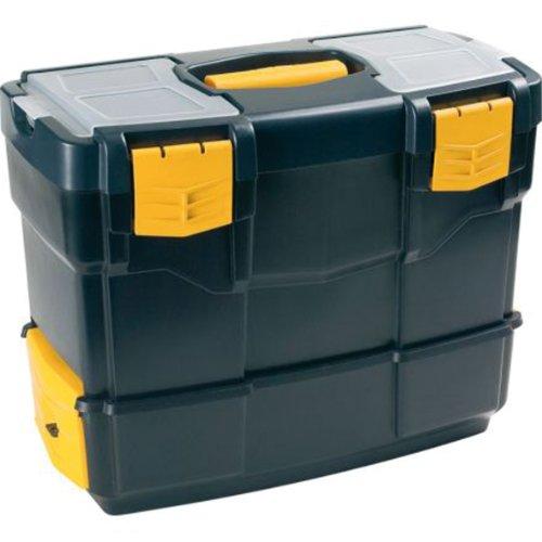 Art Plast 6500V De plástico, Polipropileno Negro, Amarillo caja de herramientas - cajas de herramientas (De plástico, Negro, Amarillo)
