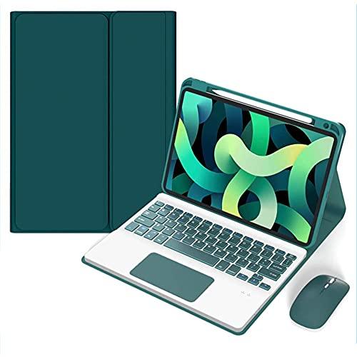 ktong Funda con Teclado táctil para el Nuevo iPad Pro 2021 iPad Pro de 12,9 Pulgadas, Funda para Tableta, portalápices Incorporado,Verde