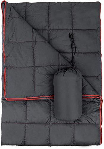 Campingdecke Outdoor Camping Decke Picknickdecke Warm Reisedecke, Wasserabweisend & Ultraleicht, Ideal für Camping, Wandern, Reisen, Backpacking, Picknick, Indoor & Outdoor (Grau)