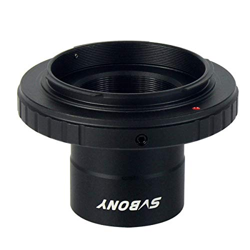 SVBONY T Adapter 1.25 inches and T2 T Ring Adapter Compatible for Any Standard Nikon Lens and Telescope Microscope Metal