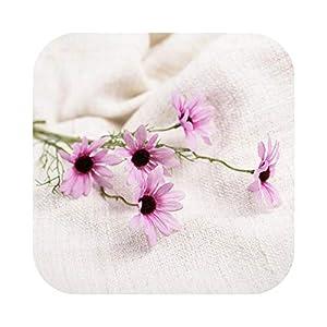 Silk Flower Arrangements 5 Gerbera Small Daisy Cosmos High-Grade Artificial Flower Bud Flower Small Wild Chrysanthemum Fake Flower Daisy-7-C