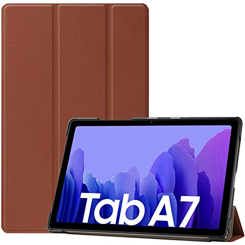 ProCase Hulle fur Galaxy Tab A7 104 Zoll 2020 T500 T505 T507 Schutzhulle Smart Cover Ultra Dunn Slim Licht Stand Klappen Schutzhulle Braun
