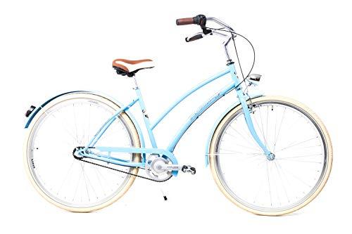 Sprick 28 Zoll Damen Fahrrad Nostalgie City Bike Shimano 3 Gang Nexus Rücktritt blau