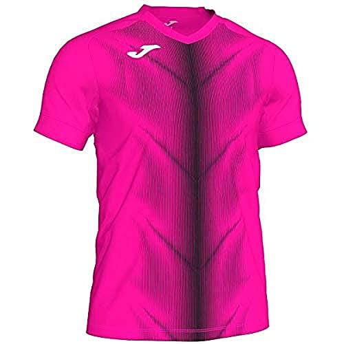 Joma Olimpia T-Shirt pour Homme L Rose Fluo/Noir