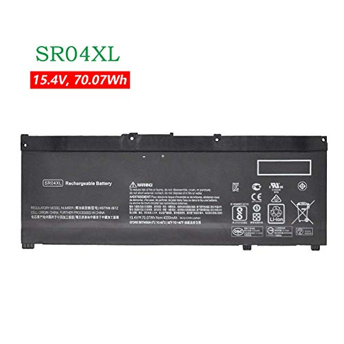 K KYUER 70.07Wh SR04XL Laptop Batería para HP Omen 2018 15-ce054na ce017na ce013na ce001na 15-dc0001ng dc1018tx dc1036tx dc0090tx dc0113tx Pavilion 15-cb079tx cb011tx cb003na cb004na cb060sa cb094tx