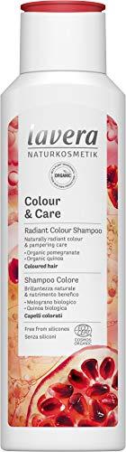 Lavera Shampoo Colour and Care, Radiant Colour Shampoo, Hair Care, Natural Cosmetics, vegan, certified, 250ml