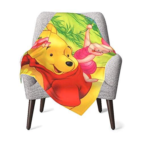Hdadwy La mejor manta de Winnie The Pooh para bebé, manta unisex, manta súper suave y cálida para niños, para cuna, sillón, sala de estar, viajes, talla única