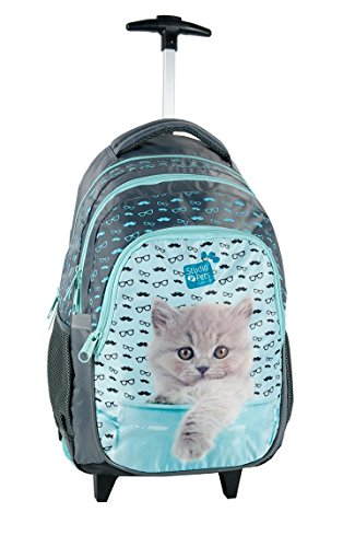 STUDIO PETS CAT Trolley Kinder Ranzen Schulranzen, Schulrucksack