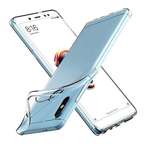 VGUARD Funda para Xiaomi Redmi Note 5 / Xiaomi Redmi Note 5 Pro, Carcasa Case Bumper con Absorción de Impactos y Anti-Arañazos Espalda Case Cover - Transparente