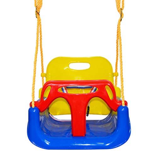 Wakauto Sedile da Altalena 3 in 1 Altalena Altalena Sicura Regolabile con Corda di Canapa per Parco Giochi al Coperto Allaperto per Bambini - Seggiolino Altalena per Bambini da Adolescenti