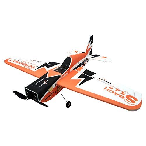 deguojilvxingshe Avión teledirigido KeyiuAV SBACH 342, listo para volar, conductor de pasajero artificial en 3D, avión rígido con modo manual/autoestabilizador (900 mm)