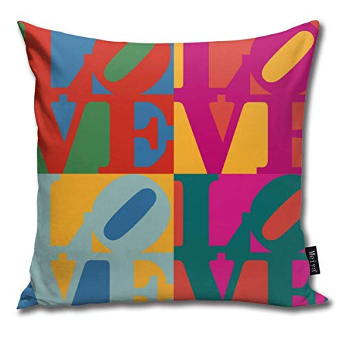 Houlipeng Love pop Art Funny Square Throw Pillow Cases Cushion Cover for Bedroom Living Room Decorative 45x45 cm