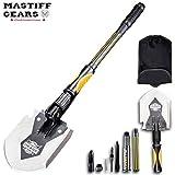 Mastiff Gears Heavy-Duty Trench Shovel, Military Shovel with Thickened Sharp Axe Blade, Ideal