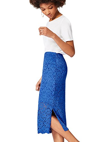find. Lace Midi  Gonna Donna, Blu (Dazzling Blue), 42 (Taglia Produttore: Small)