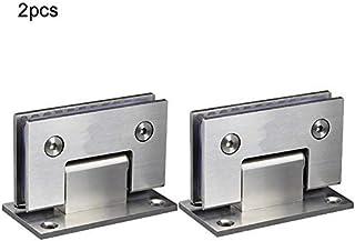 Bisagras de vidrio para puerta de cristal, 2 unidades, acero inoxidable, para puerta de armario, puerta de cristal, puerta de cristal
