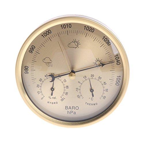 William-Lee 5 Inches Multifunctionele Barometer Thermometer Hygrometer Muur Gemonteerd Huishoudelijke Weerstation Nauwkeurige Meetbereik: -30~50 ° C; 0~100% RH; 970~1050 hPa