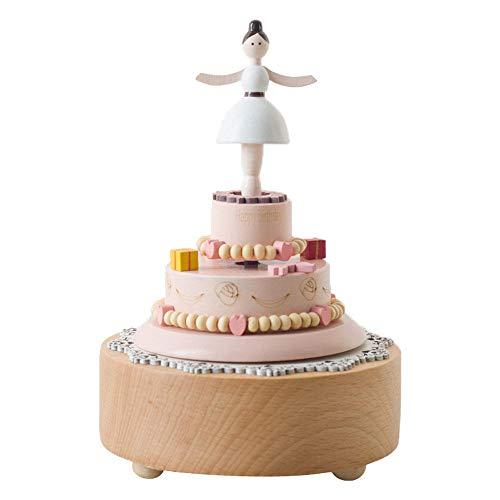 PZMXR Carrusel Caja de Música Carrusel Caja Musical de Madera para niñas, niños, niños, decoración para cumpleaños, Pastel de cumpleaños,