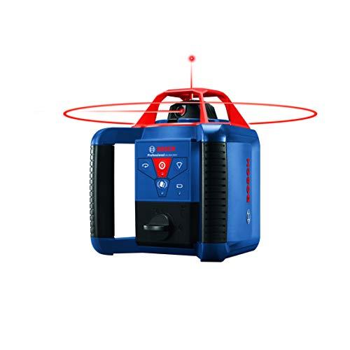 BOSCH REVOLVE900 GRL900-20HVK Exterior 1000ft Range Horizontal/Vertical Self-Leveling Cordless Rotary Laser Kit with Tripod, 8ft Grade Rod and Laser Receiver