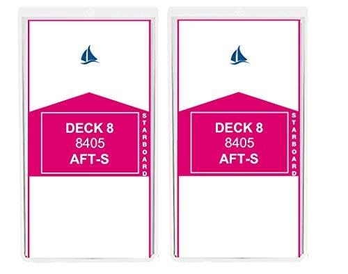 8 Pack Cruise Ship Luggage Tags PRINCESS CARNIVAL