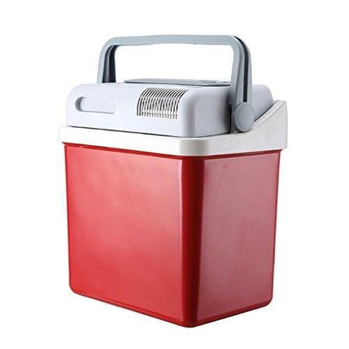Auto Kühlschrank SKC Mini Kühlschrank - 24L Red Compact Kühlschrank hält 28 x 330ml Dosen |