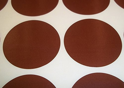 Audioprint Ltd.Paquet de 200 Rond contrôle des Stocks Points de Code de Couleur Vierge Stickers étiquettes Autocollantes - Marron, 20mm