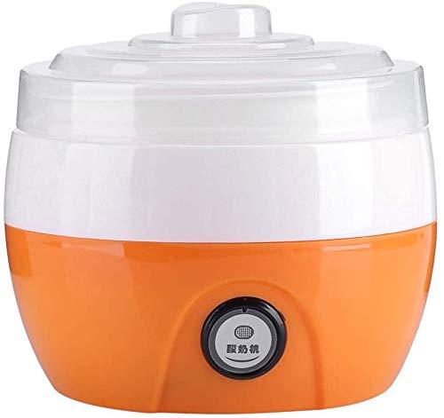 ZXL Yaourtière,Yaourtière électrique, 220 V 1L Yaourtière Automatique Maison Yaourt électrique Machine à Yaourt crème Machine Outil de Bricolage (Orange)