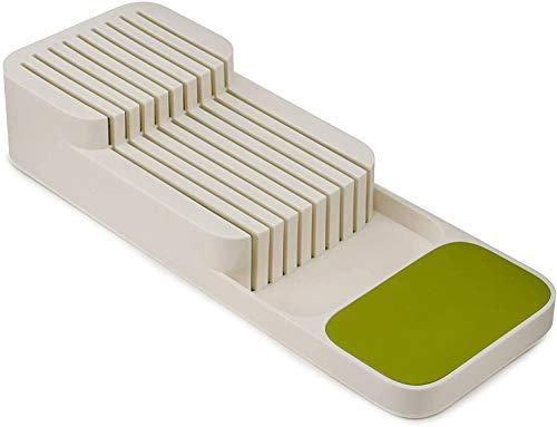 Schubladenaufbewahrung, Messer-Organizer, Küchenmesser-Halter, Messer-Aufbewahrungsbox, Messer-Trennung, Organizer, Messerhalter, Geschirr-Schublade, Aufbewahrungsbox weiß
