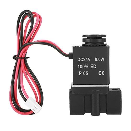 Elektromagnetventil,2P025-08 Magnetventil DC24V PT 1/4 Zoll Elektrisches Magnetventil aus Kunststoff mit Gewinde für Wasser/Luft/Öl,2 Anschlüssen 2 Positionen Solenoid Valve