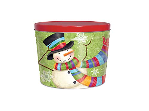Fantastic Prices! C.R. Frank Popcorn - Gourmet Popcorn Tin, 2 Gallon, Snowman (All Butter)