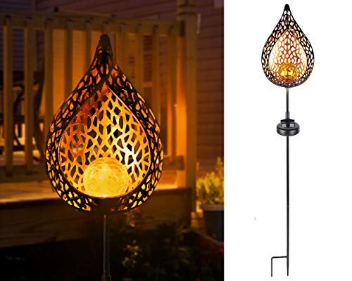 Invura Garden Solar Lights Outdoor, Decorative Pathway Light for Lawn, Yard, Patio, Waterproof and Fast-Charging Panel