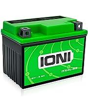 IONI 740732 ITX4L-BS / SLA4L-BS 12V 5Ah AGM Compatibile con YB4L-B / YTX4L-BS sigillato/Manutenzione Libera Batteria Adatta per Il 99% di Tutti Gli Scooter