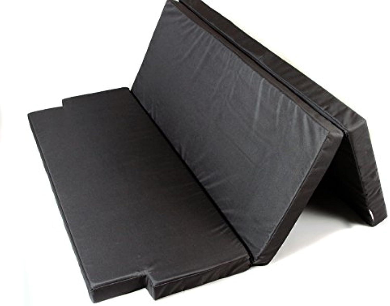 Mayaadi Home Schlafauflage groe Faltmatratze geeignet für T5 T6 California Beach Matratzenauflage 190x150x8 cm MH-SAVWCB Schwarz