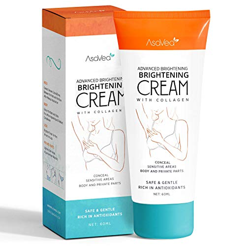 AsaVea Brightening Cream- Brightening Nourishes Moisturizes Underarm, Neck, Knees, Elbows, Between Legs 2oz.