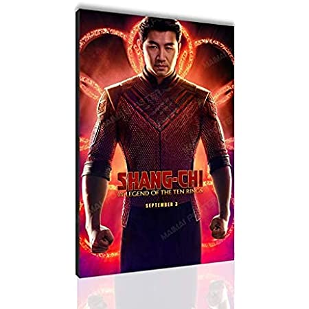 Shang-Chi and The Legend of The Ten Rings Poster Simu Liu Canvas Painting Gift Wall Art Decoration Painting SANTA RONA Xirokey (No Frame,24x36inch)