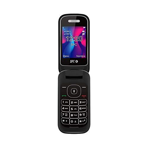 SPC Velvet teléfono móvil con tapa Dua de color negro SIM
