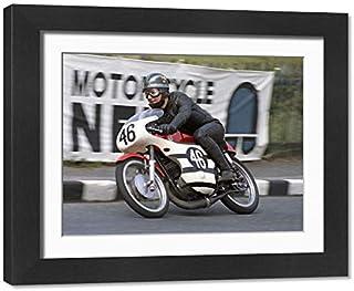 Framed 17x13 Print of Bob Ware (Bultaco) 1970 Ultra Lightweight TT (20337499)