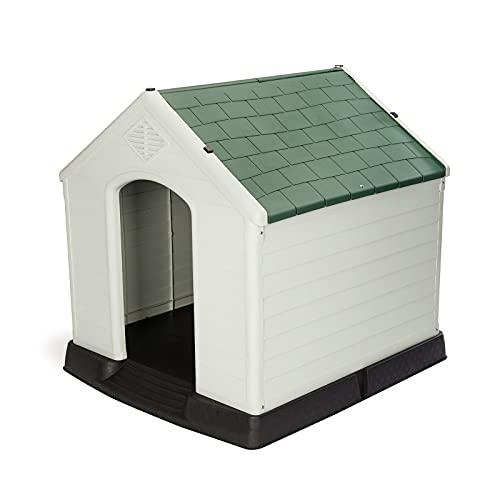 Gardiun KZT1001 - Caseta de Perro Zeus Resina Beige/Verde 66x73x69 cm