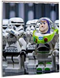 DressYourHome Inc Personalized Custom Shower Curtain,Anime Star Wars Shower Curtain,60 W X 72 L Inches 020