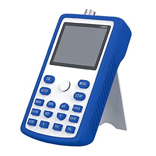Osciloscopio digital portátil FNIRSI 1C15 Frecuencia de muestreo Ancho de banda analógico 500MS / s Soporte de almacenamiento de forma de onda azul de alta precisión probador