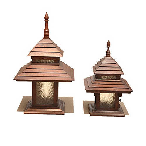 YU-K Moderne wandlamp, houten lampen voor buiten, terras, tuinhek, waterdicht, wandlamp, 28 x 45 cm