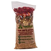 TentMeals Camping and Expedition Food: Super Seed and Red Berry Porridge Breakfast. 1x Large 800kcal Pack