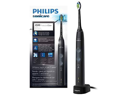 Philips Sonicare ProtectiveClean HX6830/44 - Cepillo de Dientes Eléctrico con sensor de presión, tecnología BrushSync y 2 modos de limpieza, color negro