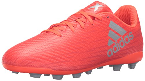 adidas Performance Kids' X 16.4 Firm Ground Soccer Cleats, Solar Red/Metallic Silver/Red, 11 M US Little Kid