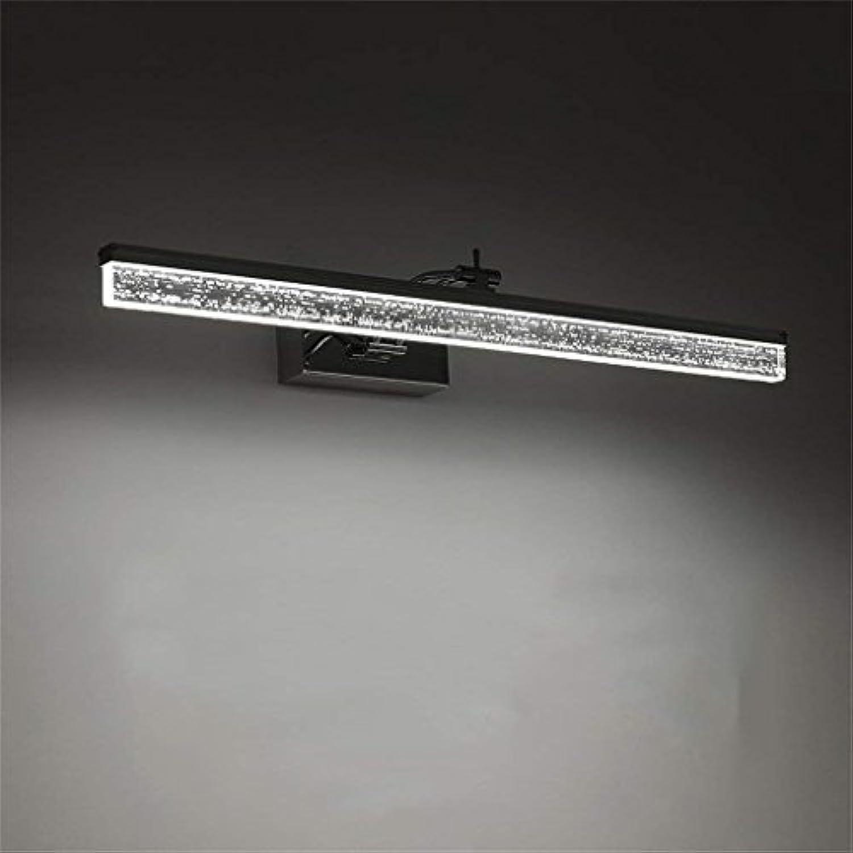 Scofeifei Edelstahl-wasserdichter Spiegel-vorderes Licht LED-Badezimmer-Spiegel-Kabinett-ankleidende Tischlampe-justierbarer Winkel (Farbe  Warmes Licht-40CM6W) (Farbe   Weiß Light-40cm6w)