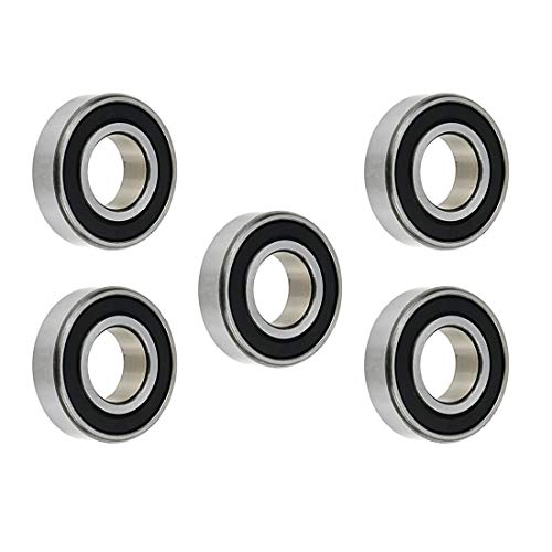 Rannb 6004RS Ball Bearings Double Sealed Steel Bearings 20mm x 42mm x 12mm- Pack of 5