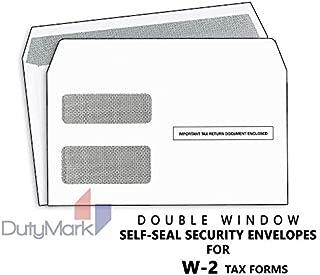 w2 envelope size